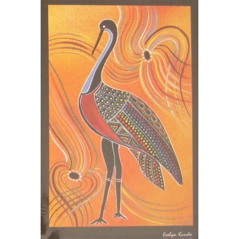 printable aboriginal bookmarks aboriginal art print brolga