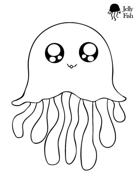 coloring pages of a jellyfish this is the cutest jellyfish coloring page ever kids will