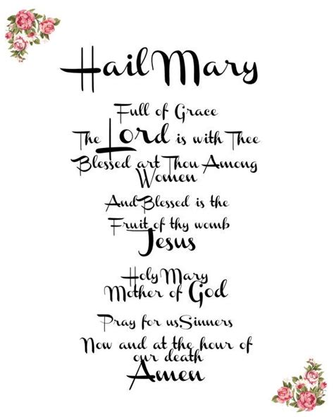 printable version of hail holy queen the 25 best hail mary ideas on pinterest catholic