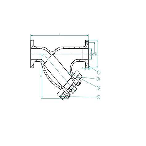 Y Strainer Drawing by Marine Bronze Y Type Strainer Marine Bronze Y Type