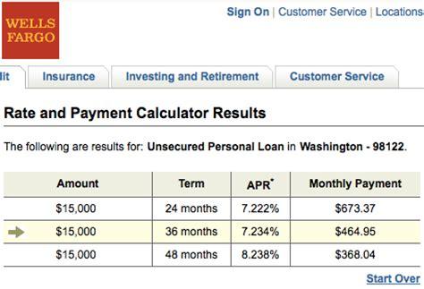 wells fargo personal loan lending club   rates