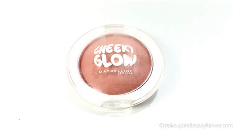 Maybelline Cheeky Glow Blush maybelline cheeky glow blush cinnamon review