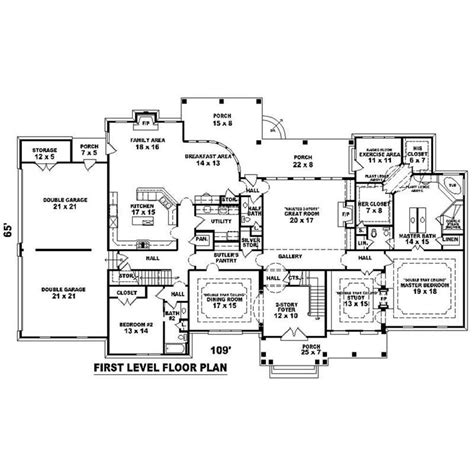 Large Home Floor Plans by Big Mansion Floor Plans