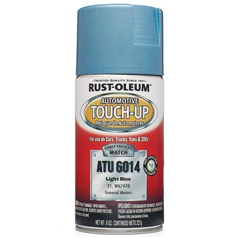 home depot car touch up paint rust oleum automotive 8 oz light blue auto touch up spray
