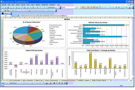 Spreadsheet Report monthly financial report template excel presenting