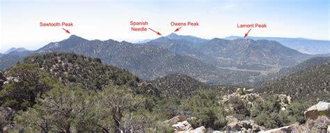sierra peaks section view from chimney peak