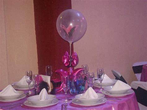 centros de mesa para 15 aos con globos decoraci 243 n de centros de mesa de quince a 241 os