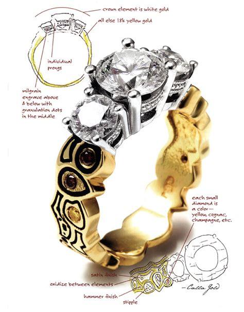 jewelry design journal santa barbara custom jewelry designs by calla gold