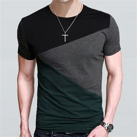 Design T Shirt Sleeve | t shirt men designs slim fit crew neck mens short sleeve