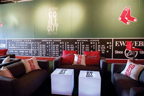Track And Field Room Decor by Boston Sox Baseball Themed Bar Mitzvah At The Stave