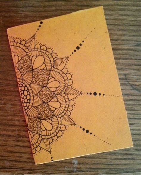 pattern for notebook case diy notebook in rice paper zentangle design zentangle