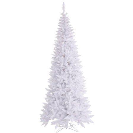 unlit white trees slim vickerman 4 5 white fir artificial tree unlit walmart