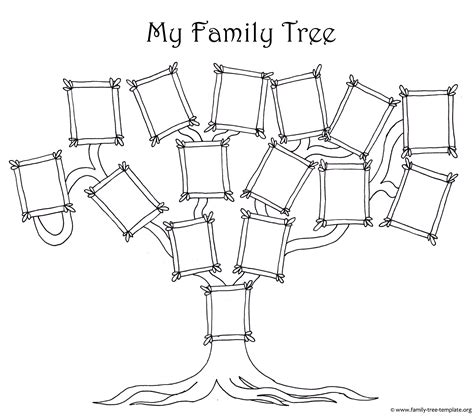 Free Family Tree Template Designs For Making Ancestry Charts Genealogy Tree Template