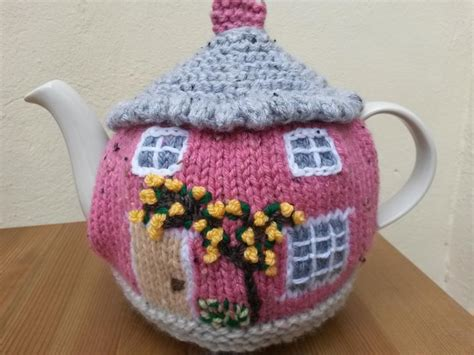 tea cozy knitting pattern knitted cottage tea cosies by linmary123 craftsy