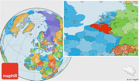 belgium location in world map political location map of belgium
