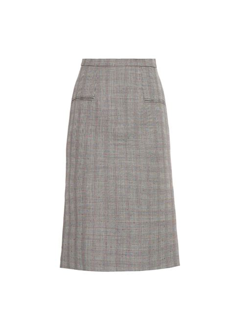 mcqueen prince of wales check pencil skirt in