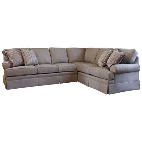 smith brothers sectional sectional with skirt and rolled arms by smith brothers