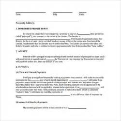 promissory note free template word promissory note template 10 free documents in