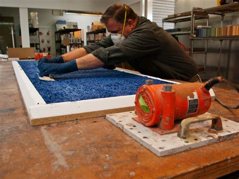 How To Make Recycled Glass Countertops by Five And Demolding Cheng Concrete Exchange