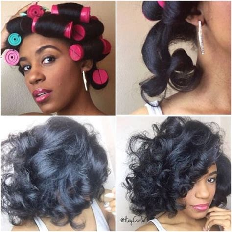 how to roll hair with jumbo flexi rods heycurli how i achieved this large perm rod set on
