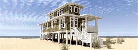 beach house plan  walkout sundeck td