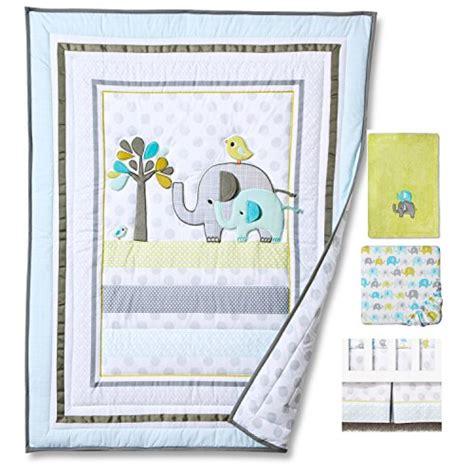 Blue Elephant Crib Bedding Blue Elephant 4pcs Set Baby Bedding Set Nursery Crib Bedding With Comforter Blanket Your