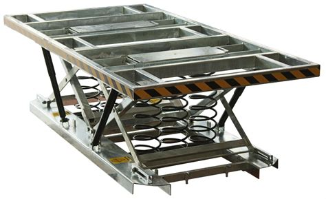 large loaded pallet lift table capacity 2000kg