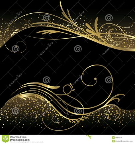 Ad Blackgold abstract black and gold background stock vector image