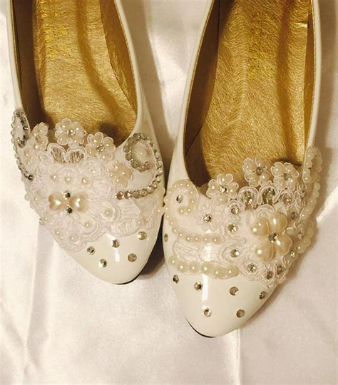 Comfortable Wedding Flats For by Wedding Shoes Flats Ivory White Wedding Shoes Bridal