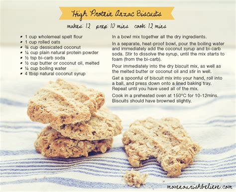recipes for recipe of the week healthy anzac biscuits move nourish