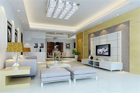 chinese modern minimalist living room interior design 3d modern house 3d living interior tv wall design