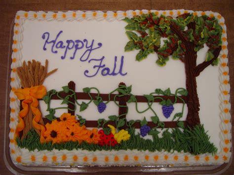 Sheet Cake Decoration by Fall Sheet Cake Cake Decorating Community Cakes We Bake