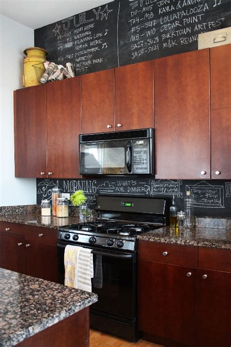 chalkboard kitchen backsplash living with shaleah soliven design