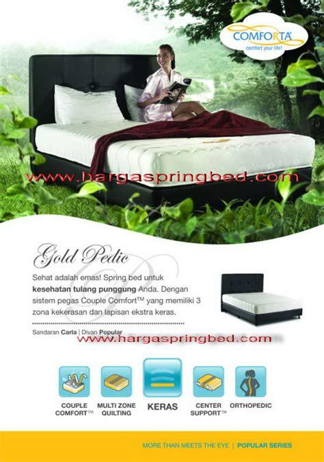 Bed Comforta Gold Pedic bed comforta comforta springbed harga teengaer