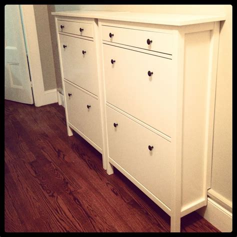 ikea shoe cabinet hack ikea hemnes shoe cabinets in white new house pinterest