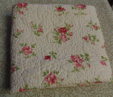 Quilted Cotton Fabric by Pink Cottage Roses Pre Quilted Cotton Fabric Sew Totes Pillows