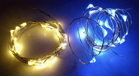 Battery Night Light Silver Wire String Lights Qualizzi Starry And String