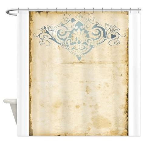 Vintage Shower Curtains Vintage Damask Scroll Shower Curtain By Weddinglittletreasures