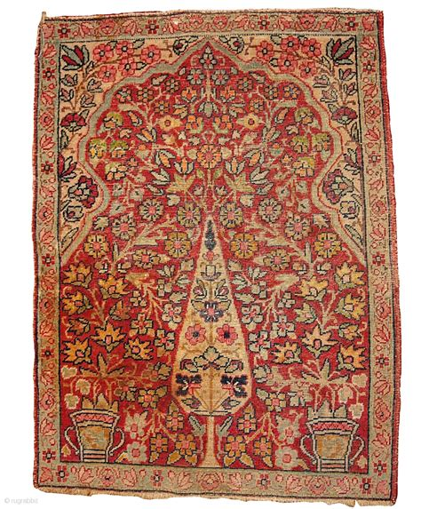 tree of rug 1b330 prayer quot kerman lavar tree of quot rug 2 x 2 9 1880 in original condition low