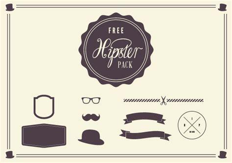 hipster design elements vector free vector graphics ian barnard