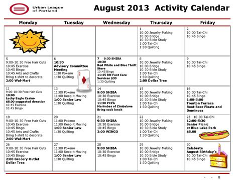 activity calendar template for seniors 10 best images of sle activity calendars for seniors