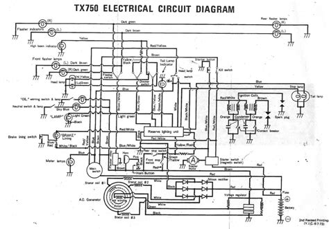 electrical circuit diagram yamaha tx750 interest site