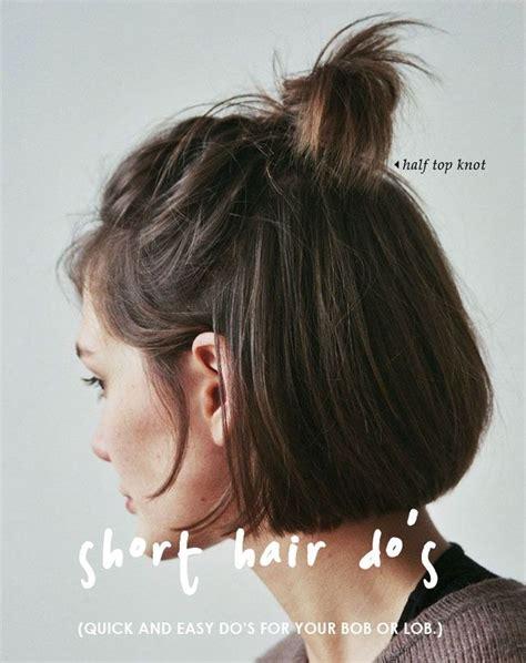 half bun top short hair do s 10 quick and easy styles short hair