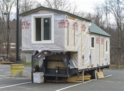 College Senior Building 5th Wheel Tiny House Semi Trailer Tiny House Plans