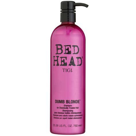 tigi bed head shoo tigi bedhead dumb blonde shoo 750ml hair care b m
