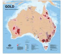 map of gold deposits and discoveries in australia