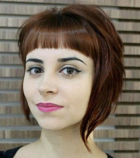 different hairstyles for round face best bangs for round faces
