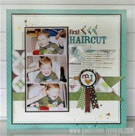 scrapbook layout for first haircut 1000 images about first haircut scrapbook ideas on