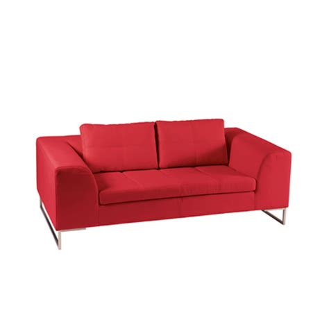 dwell vienna sofa vienna leather two seater sofa red dwell