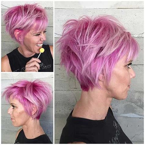 short hairstyles pink color must try short hairstyles 2016 trends short hairstyles